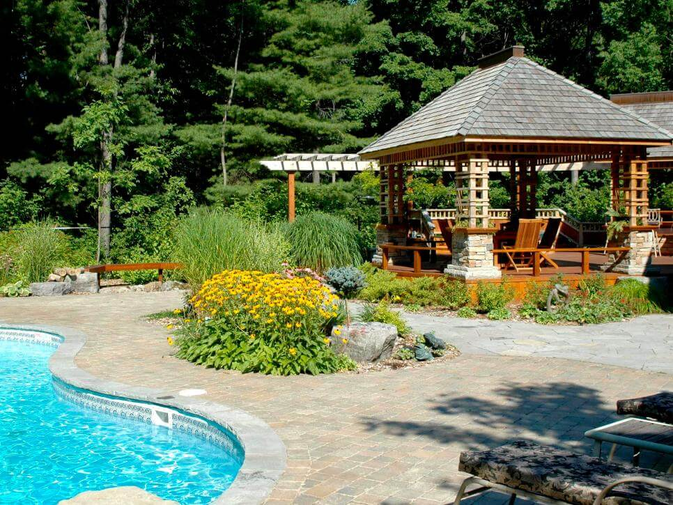Backyard swimming pool for your home exterior