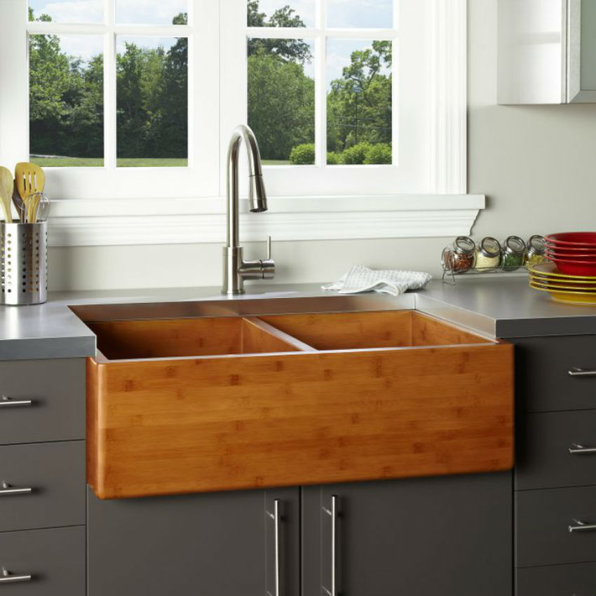 36 kitchen sink kraus khu100 30 kitchen sinks zero radius - Trendy kitchen sinks ...