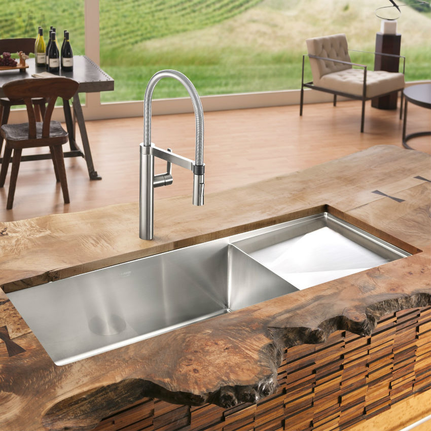 2017 sink designs that overflow with beauty - Trendy kitchen sinks ...