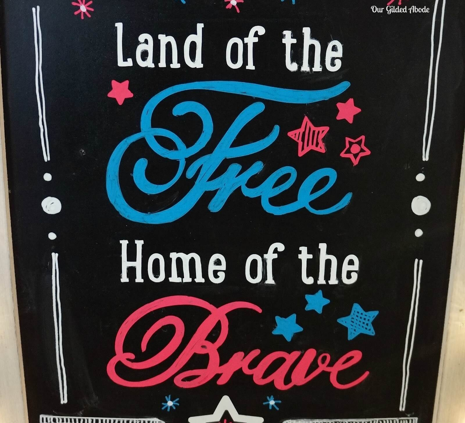 4th of July crafts like this chalkboard idea