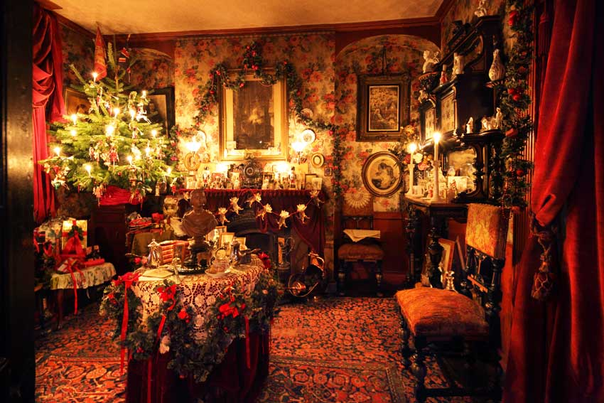 Or perhaps this Victorian Style Christmas decor? Image Source: 50Museums.com