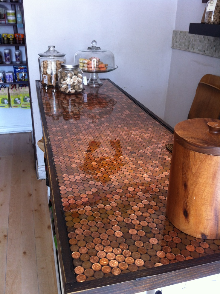 Penny Tile Kitchen Countertop