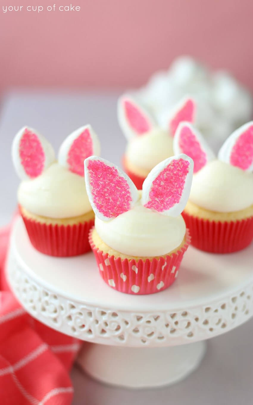 These bunny cupcakes are a guaranteed success.