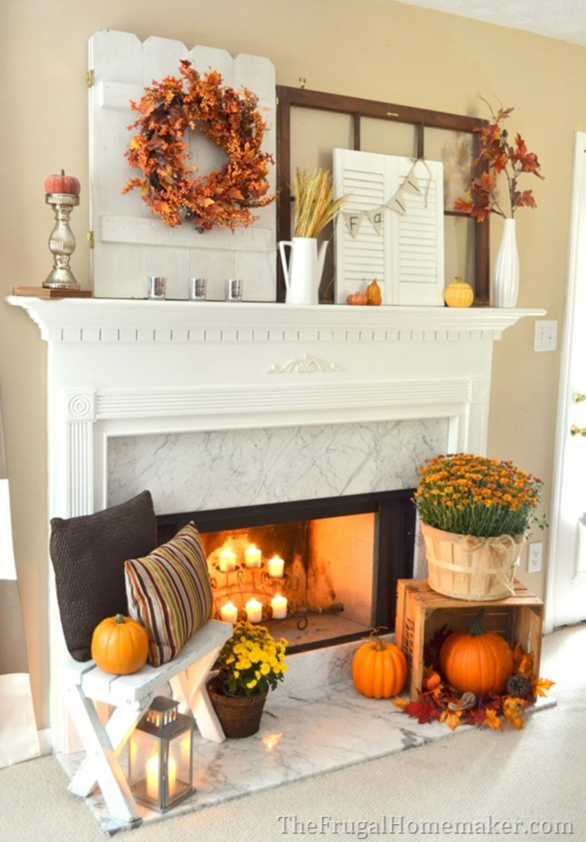 White, orange and brown are the main colors on the palette. Source: The Frugal Homemaker