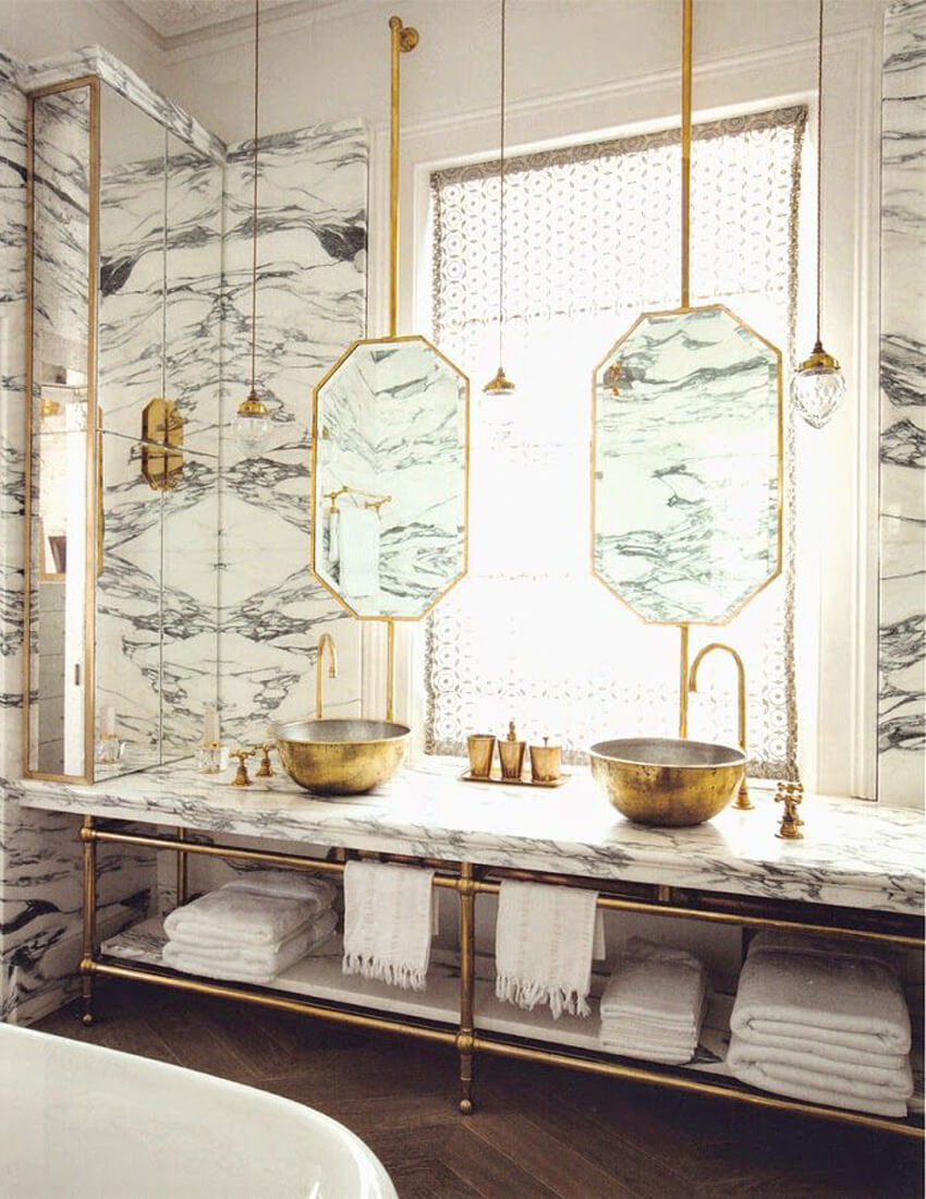 Opt for brass accents in 2018 instead of brushed silver.