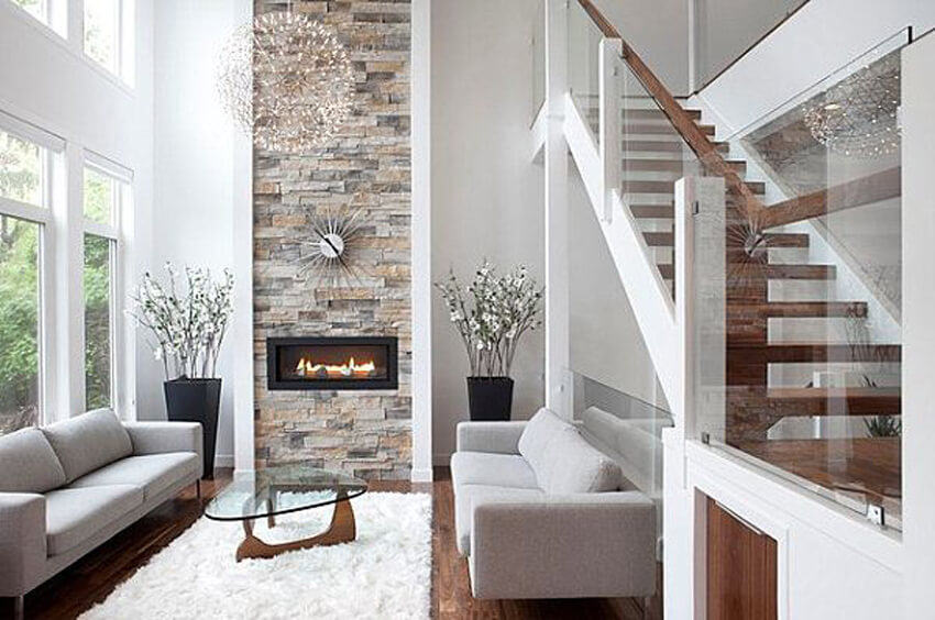 Consider incorporating natural elements like stone into your home decor.