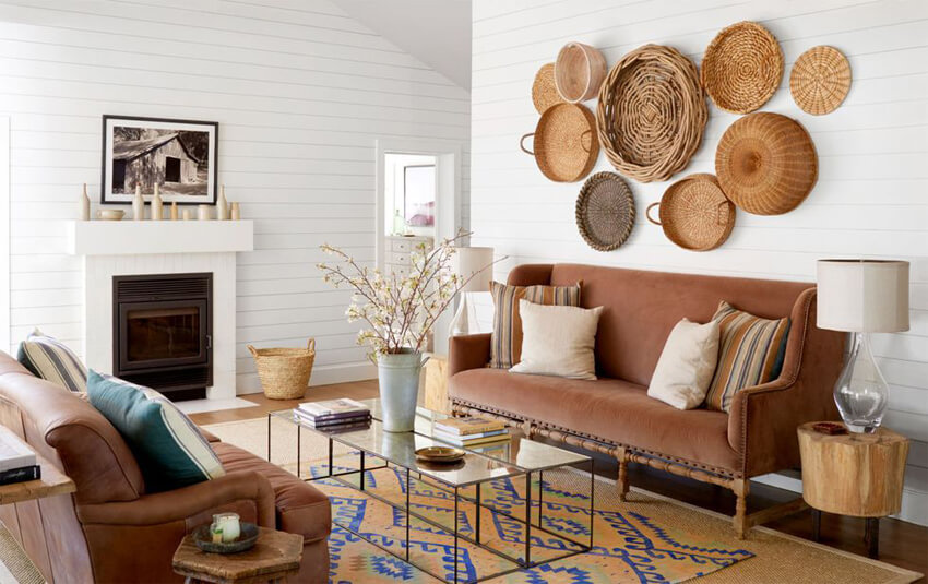 Woven textures add warmth and coziness to your home.