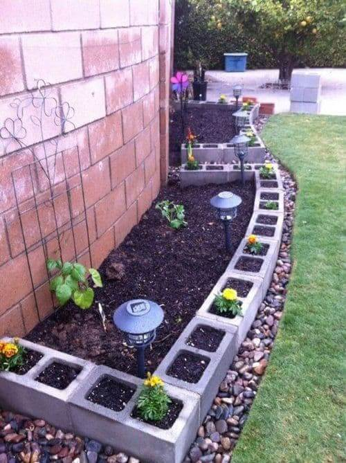 Cinder block gardens are all the DIY rage