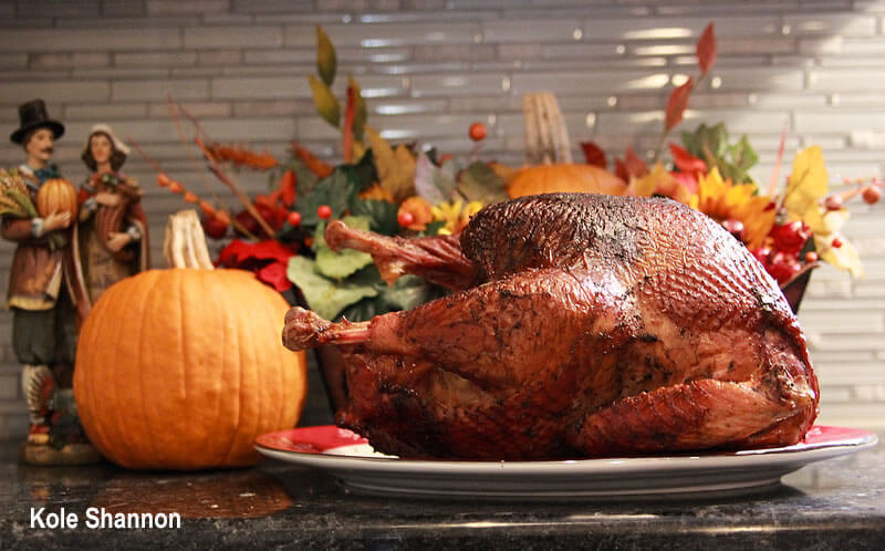Barbecue that bird right up for Thanksgiving!
