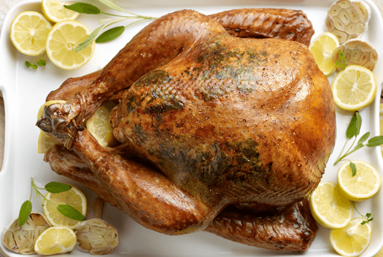 Another take on turkey is to use a lemon zest in cooking