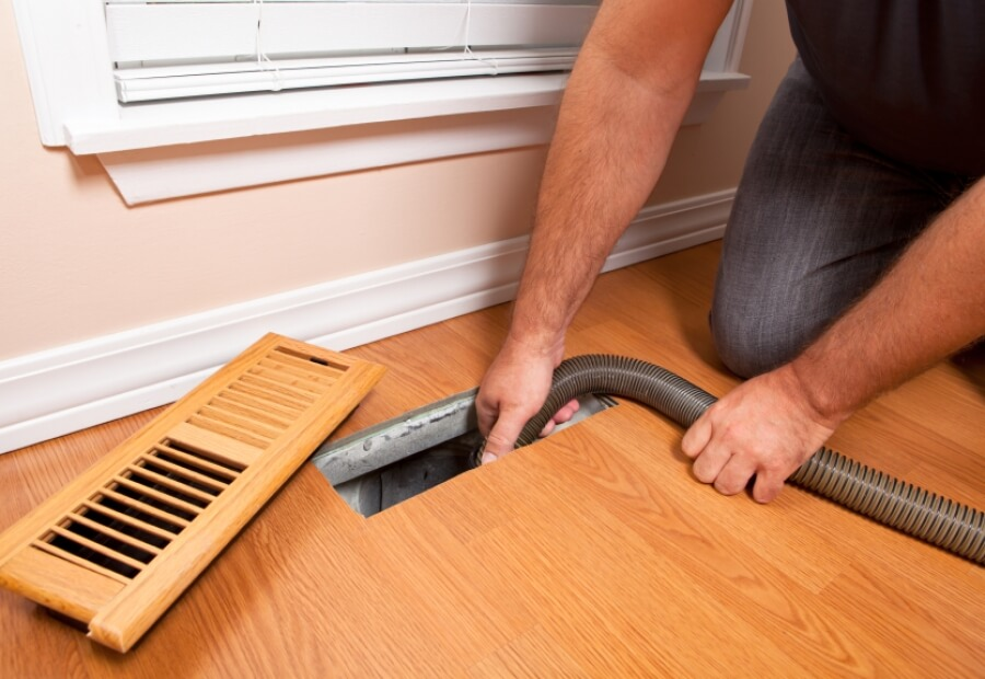 Vacuum out the old vents to improve air quality