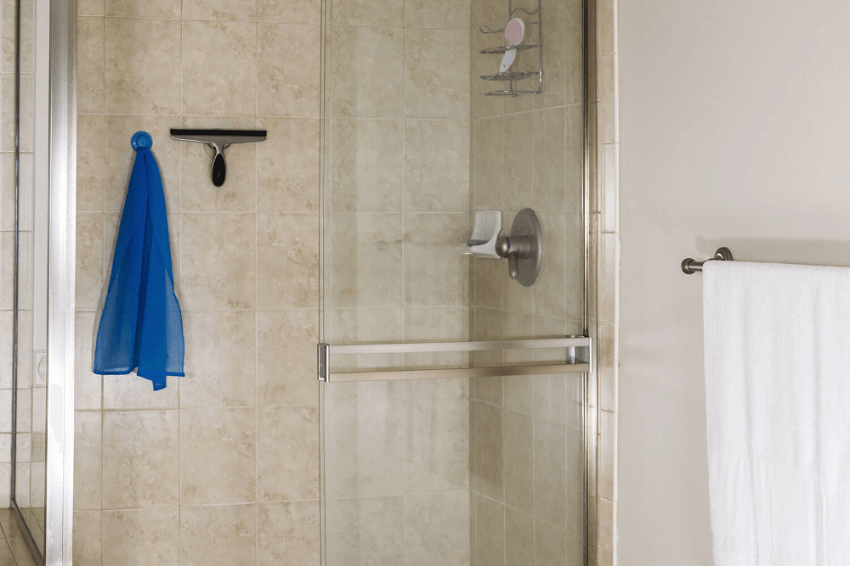 A small squeegee is perfect for the bathroom. Source: Tools of Men