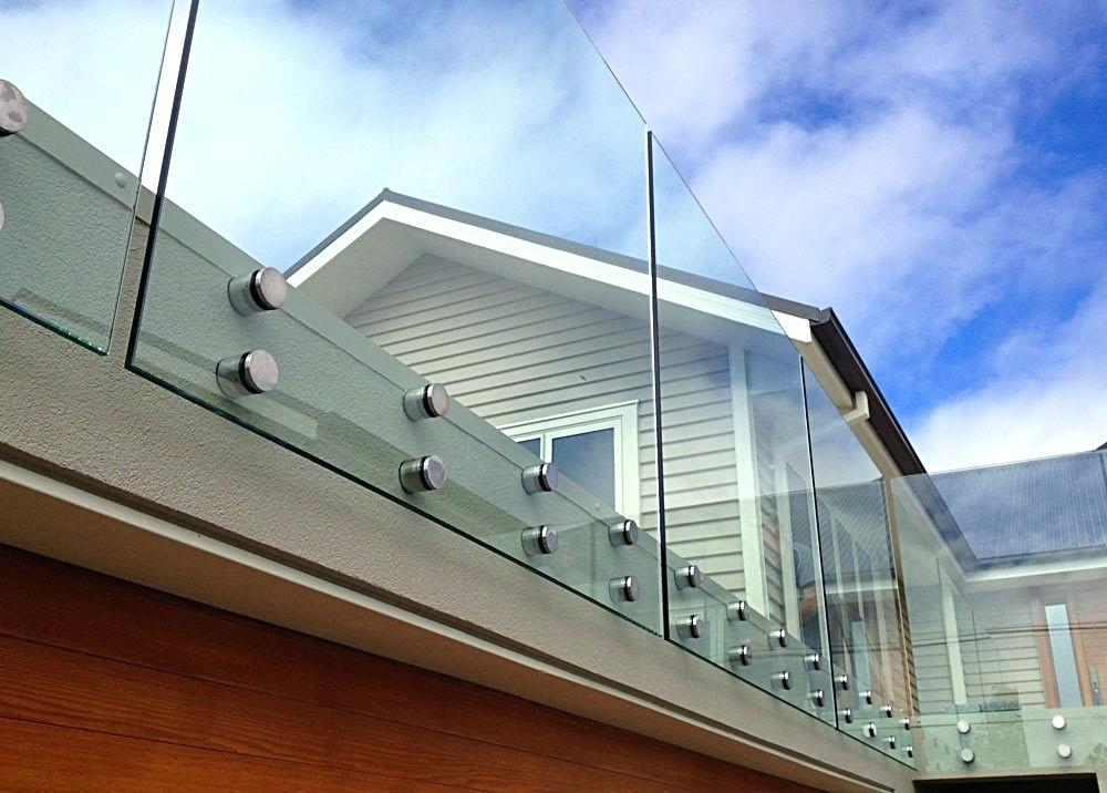 Glass balustrades adds class to the house. Source: Werner
