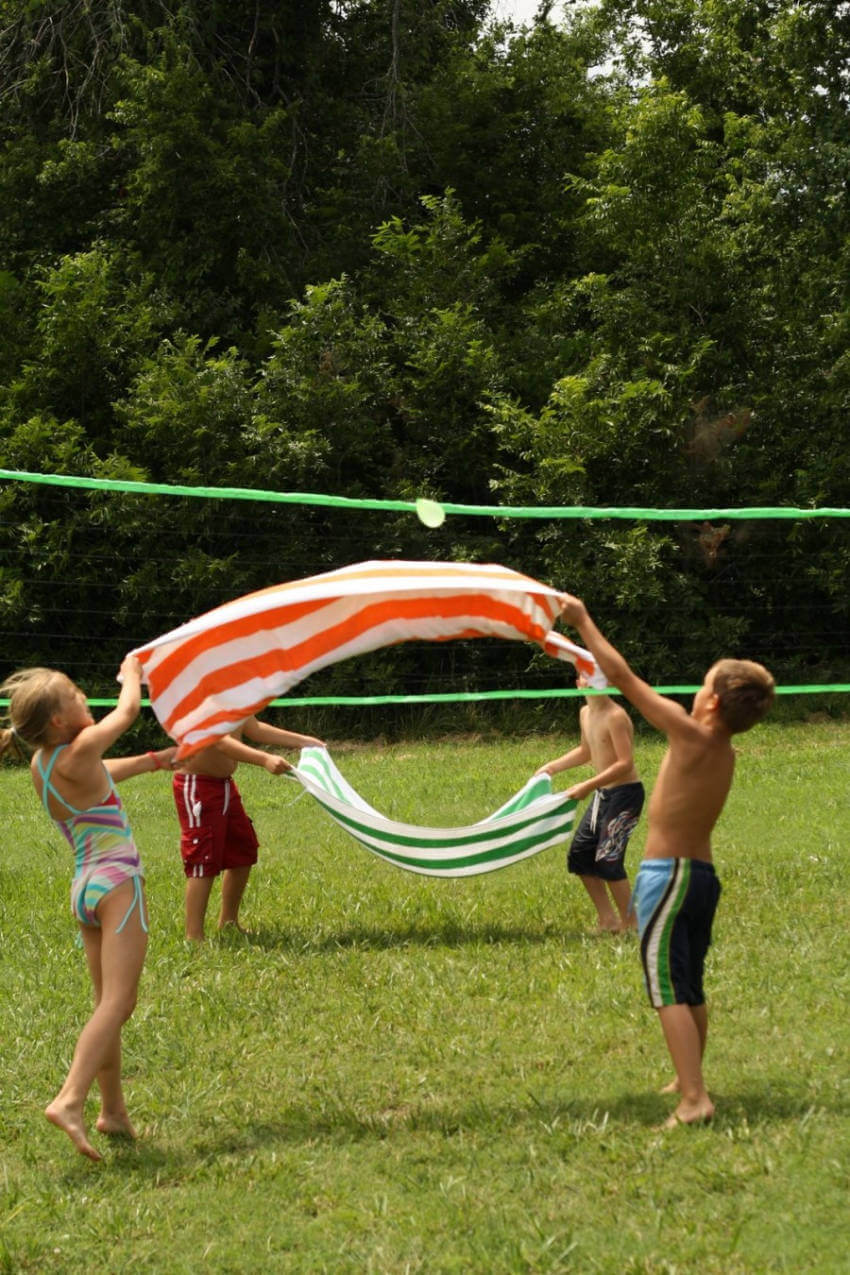 blanket volleyball