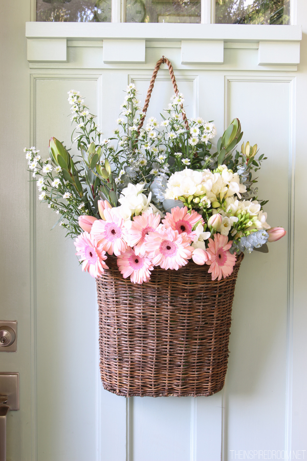 A basket and some flowers are all you need!