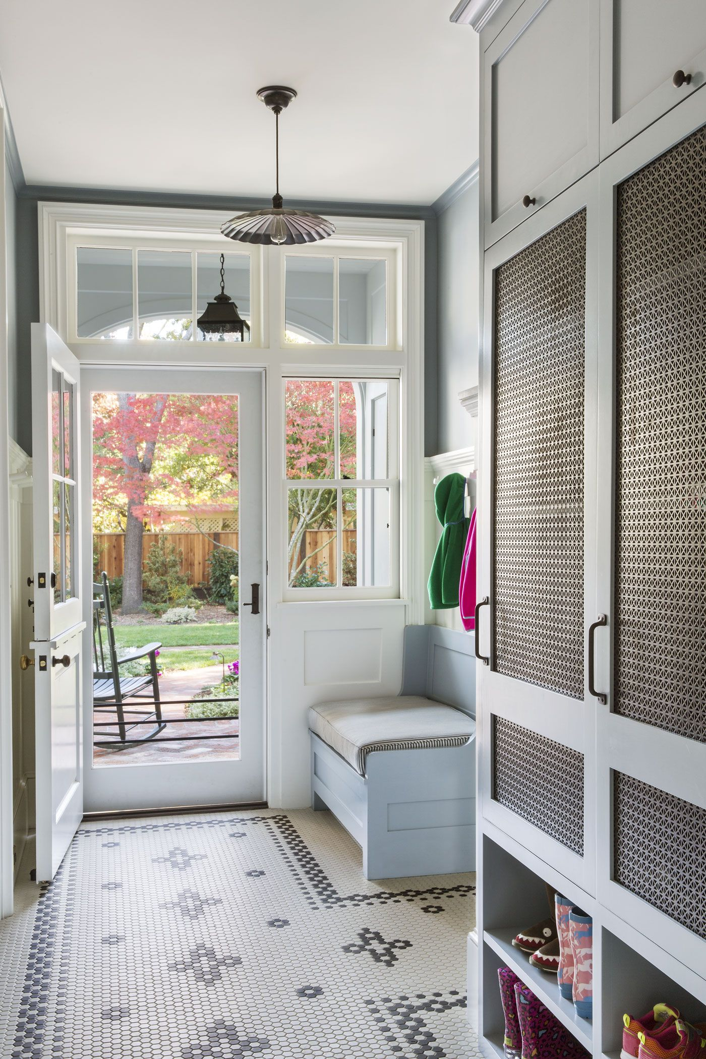 Dutch Door with Transom Windows