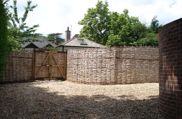 Woven fencing is criminally underused in modern home design