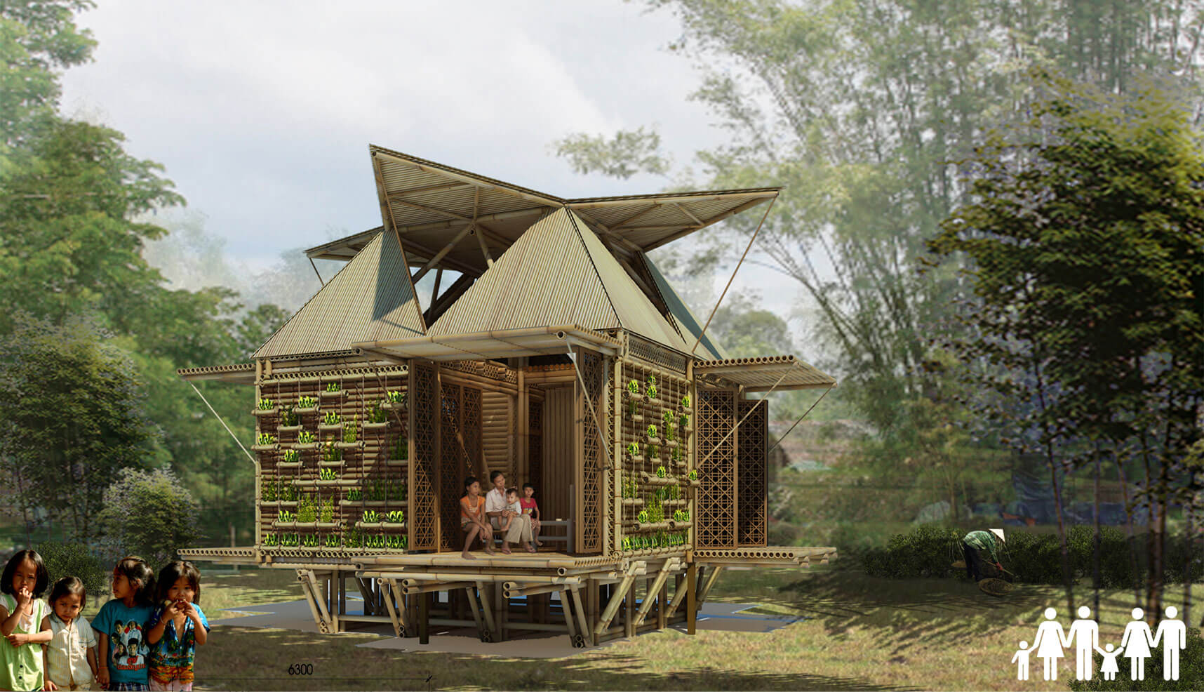 Totally custom bamboo home actually costs less to make