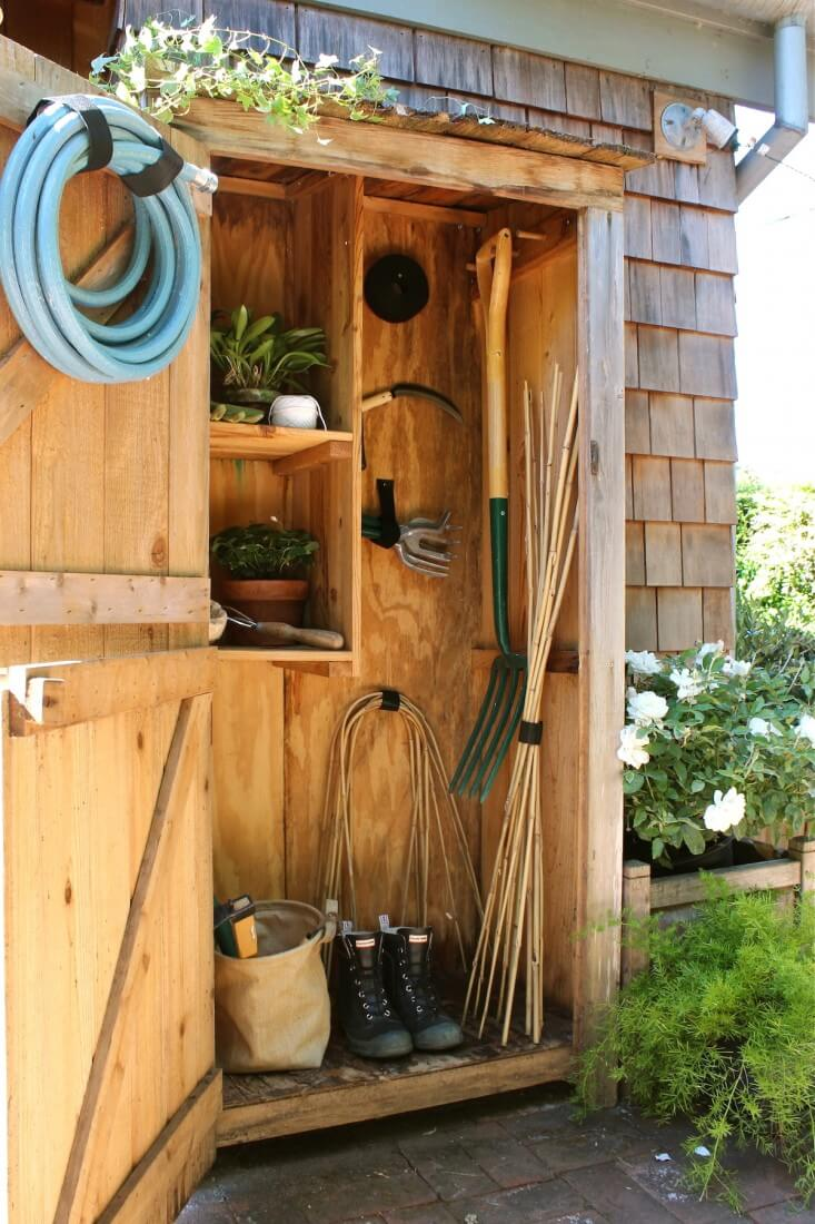 A wall shed can make all the difference outside