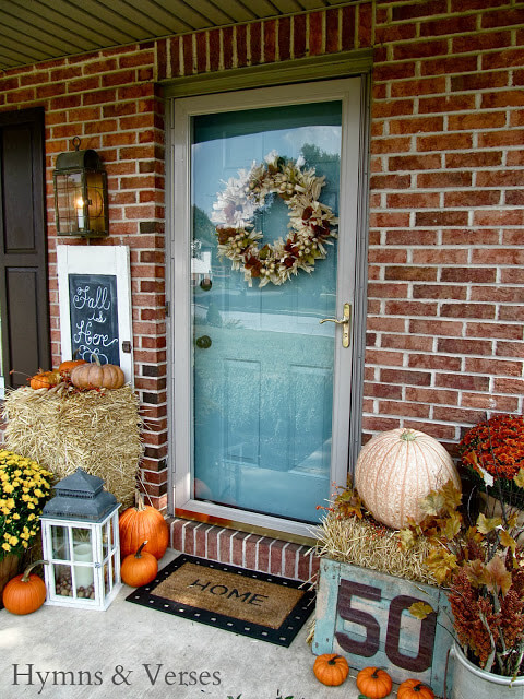 Blue doors for porches are very fall