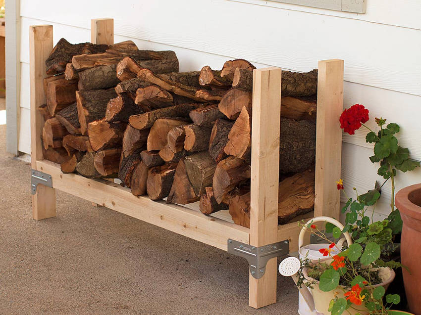 Get the firewood stacked and ready before fall!