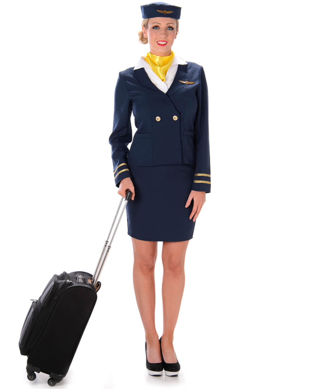 A friendly flight attendant costume for cheap