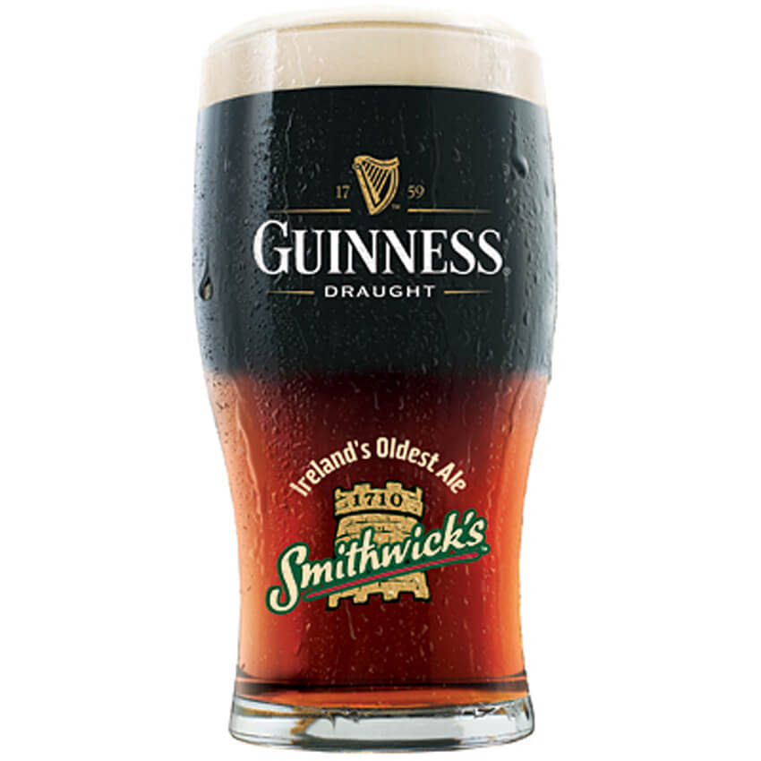 The All-Irish Black and Tan is made with Guinness and Smithwick's.
