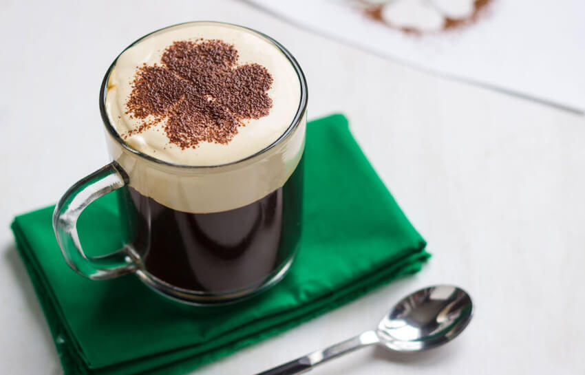 Irish coffee is a great way to start your St. Patrick's Day celebrations!