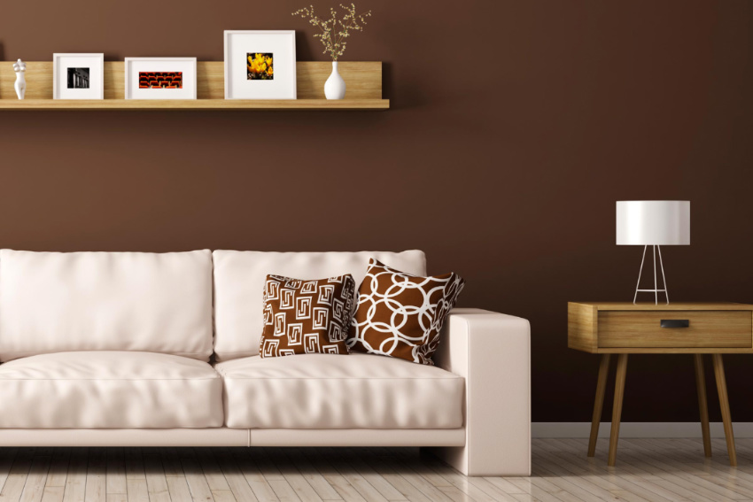 Brown is a great color for your living room. Source: RD