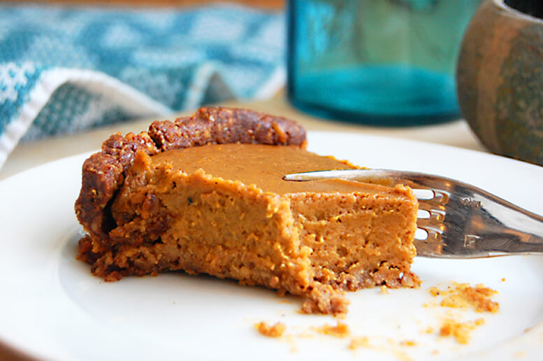 Warm, moist, scrumptious pumpkin pie