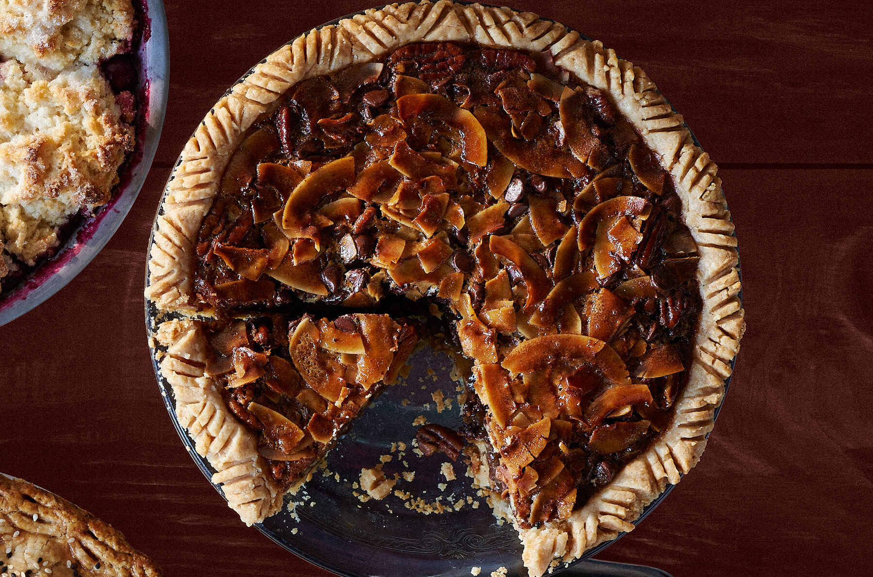 We love pecan pie, and we can tell no lie.