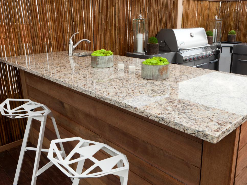 Granite is also great for your outdoor kitchen. Source: Southern Living