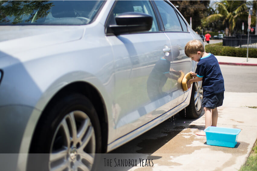 Do nice things for your mom, like washing her car!