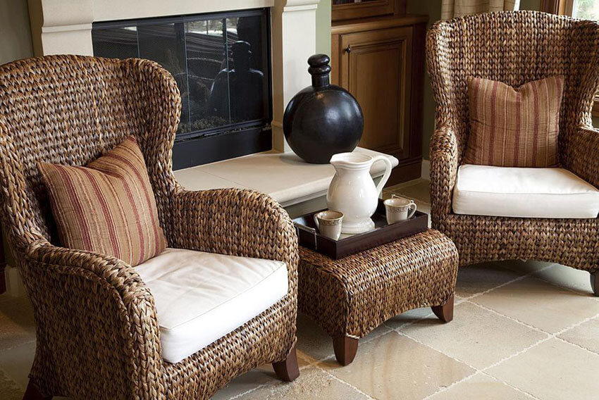 Adding wicker furniture to your small kitchen will give it warmth and character.