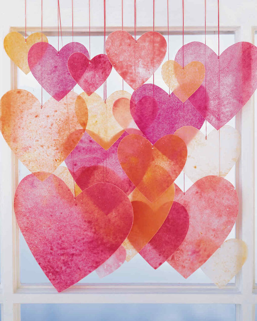 Use crayons to make this unique and cute Valentine's Day decoration.