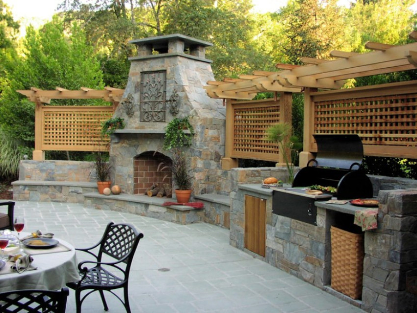 An outdoor kitchen is perfect for family gatherings. Source: Country Living