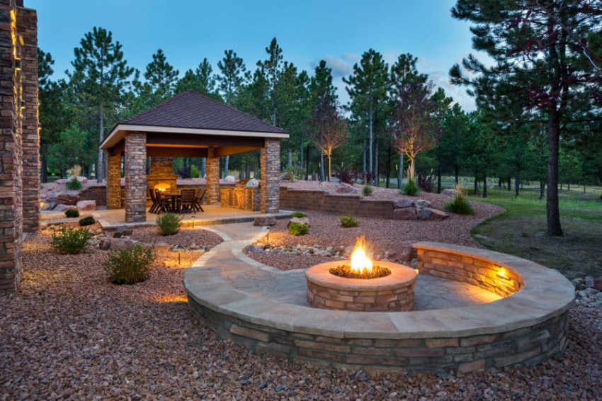 A fire pit can be a great addition to your patio. Source: Own the Yard