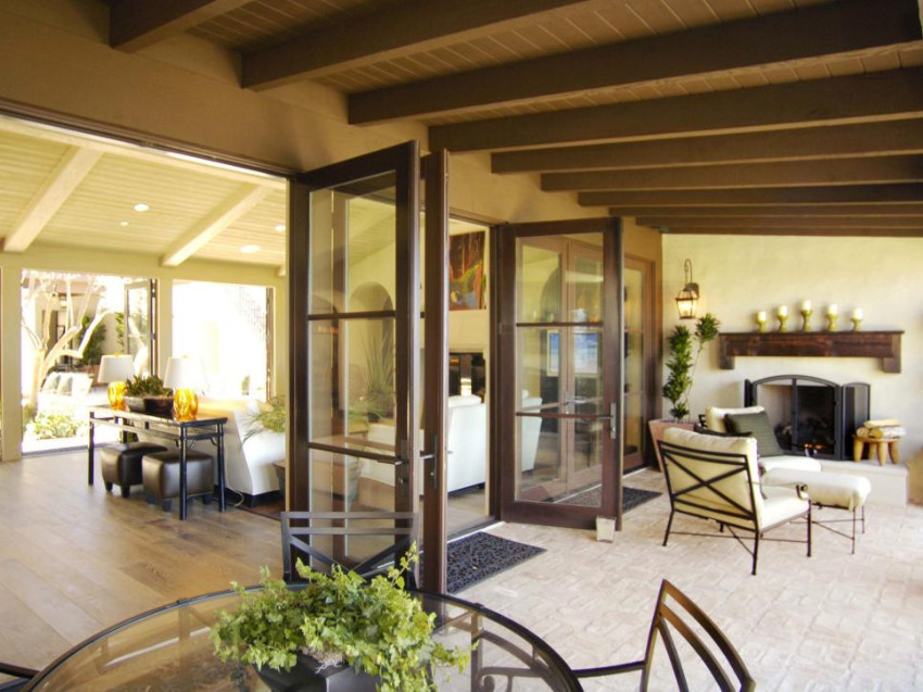 Make your patio an extension of your living room. Source: HGTV