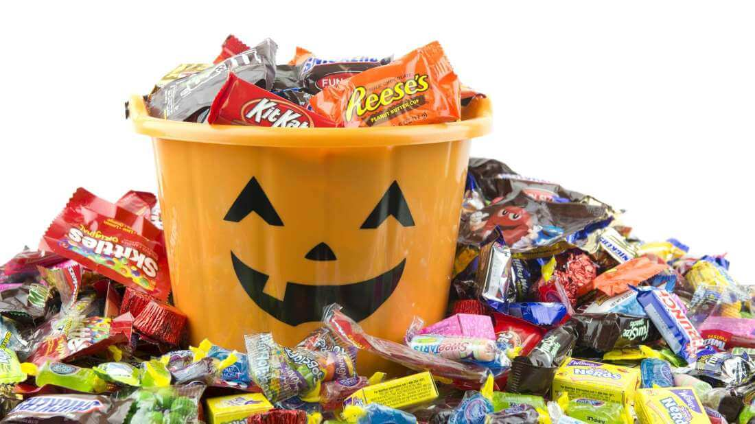 Halloween is the time to eat candy
