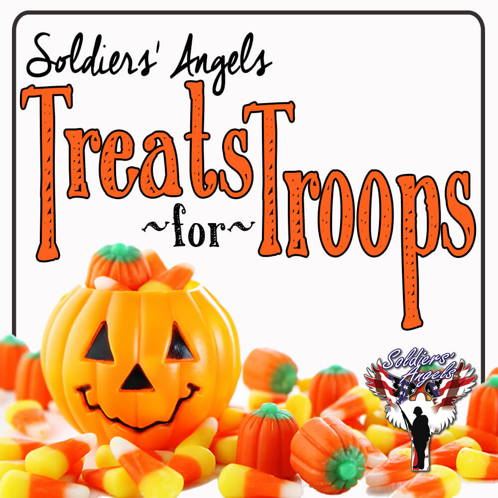 Treats the troops to some candy