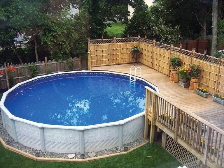Above ground pools make a fine addition to any home
