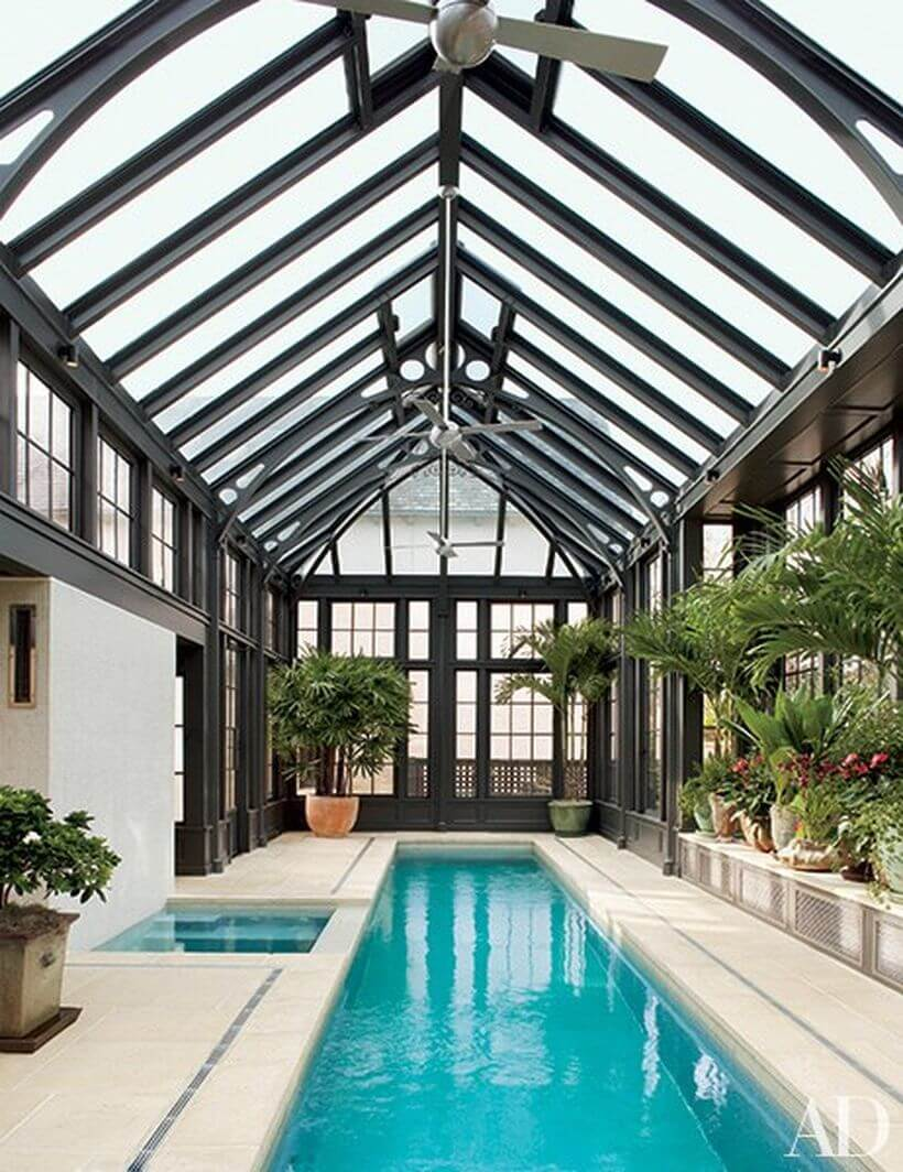 Indoor pools are a sight to behold, especially with this look