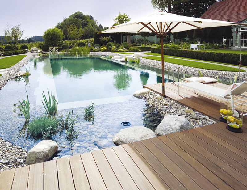 You can even have a sustainable pool installed