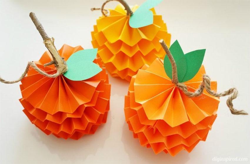 Paper Pumpkins Thanksgiving