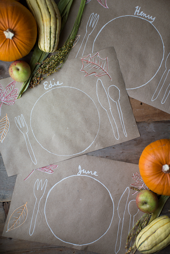 Paper Placemats Thanksgiving