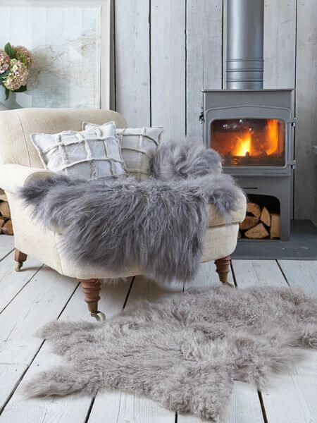 Beautiful faux fur can really bring together any room