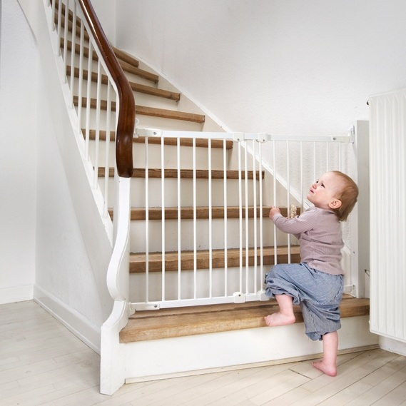 A stair gate is a necessity if you have stairs in your home.