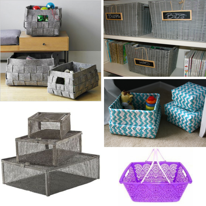 There are many different styles, colors, and sizes of baskets available, so put them to good use! Find baskets that work well with your room or home and use them for decorative storage.
