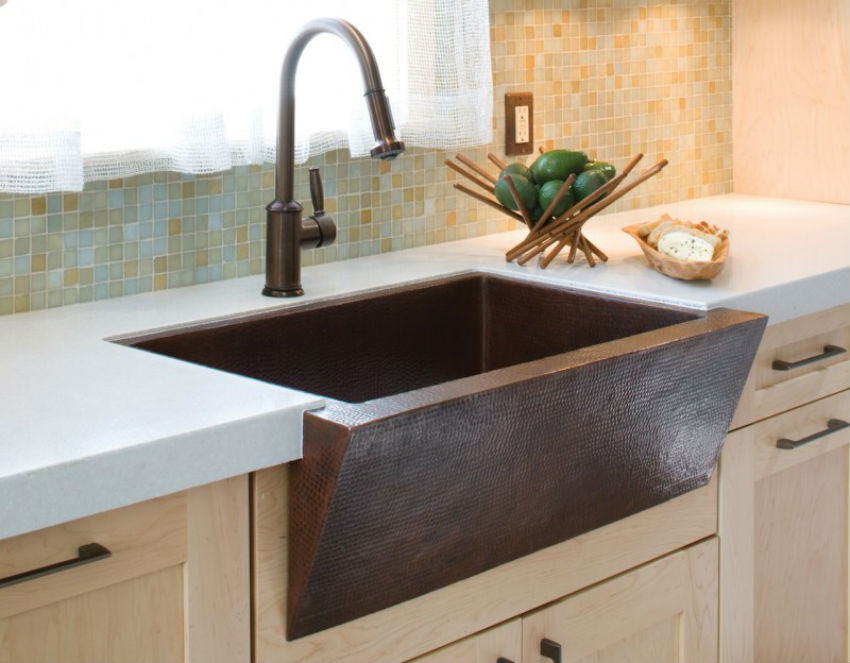 Alternative materials are also being largely offered. The sink above,is made of bronze. Image Source: Speed Chic Blog