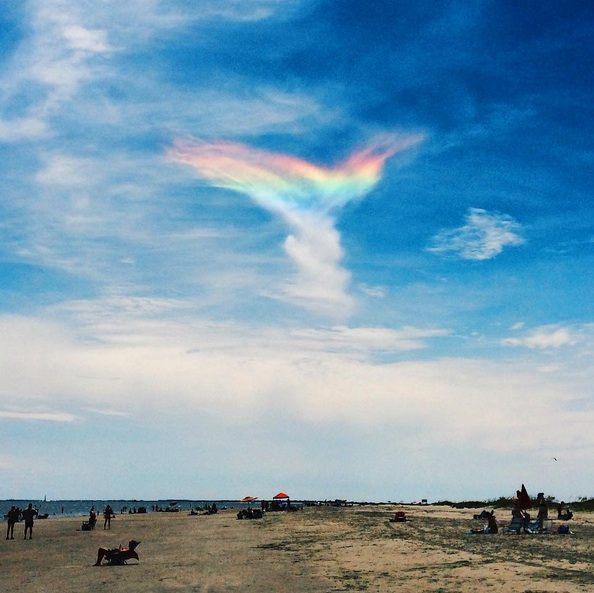 a rare fire rainbow in the sky over Isle of Palms in South Carolina